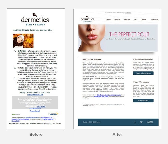 Dermetics - Before and After